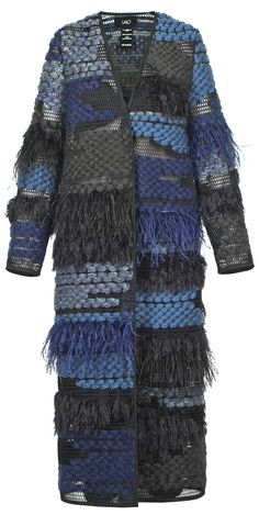 Blue Feather Coat