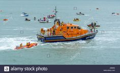 Download this stock image: Scenes from Moelfre Lifeboat day on Anglesey, taken on the 16th August 2014. - JB6853 from Alamy's library of millions of high resolution stock photos, illustrations and vectors.