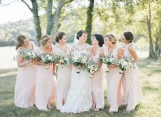 "Emily Katharine Photography  We love a beautiful blush wedding in our ""Tiny Dancer"" shade!"