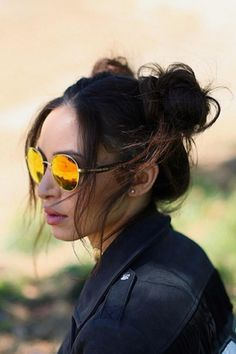 Danielle Peazer Opts For Cute '90s Twisted Buns At Coachella, 2016