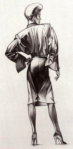Fashion illustration by George Stavrinos (1948-1990).