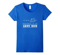 Womens Proud Heartbeat Of An Army Mom Soldier Son Gift T-shirts