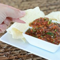 Fresh and spicy restaurant style salsa recipe - you've got to try it if you can handle the heat!