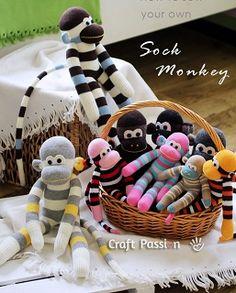Игрушки из носка: американская носочная обезьянка. Мастер-класс по пошиву