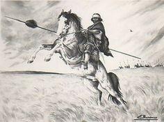 Eleodoro Marenco White Pencil, Rio Grande Do Sul, Native American Art, Samurai, Westerns, Anime Art, Horses, Black And White, Drawings