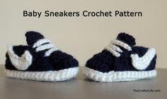 Crochet Nike Inspired Baby sneaker Booties free pattern #diy, #crochet, #shoes, #sneakers