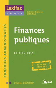 Finances publiques  édition 2015