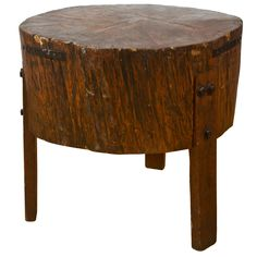 1stdibs - Super Heavy 19th Century Butcher Block Table explore items from 1,700  global dealers at 1stdibs.com