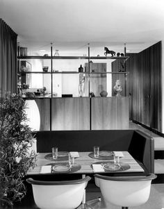 Kitchen for D.J. De Pree, Zeeland, Michigan, 1962, Dolores Engle, an associate at George Nelson's office