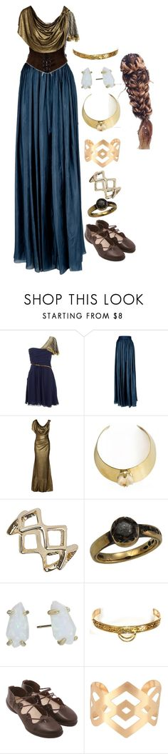 """Lady of Asgard 2"" by daughter-of-apollo92 ❤ liked on Polyvore featuring Temperley London, Lanvin, Badgley Mischka, Unearthen, Topshop, Damiani, Kendra Scott, GUINEVERE, Trippen and marvel"
