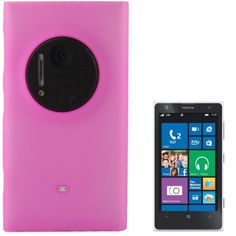 Translucent Frosted Plastic Coque Cover Case pour Nokia Lumia 1020 (Magenta)