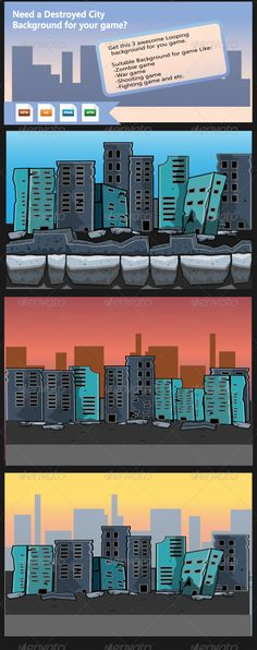 Realistic Graphic DOWNLOAD (.ai, .psd) :: http://jquery.re/pinterest-itmid-1008179124i.html ... Destroyed City- Game Background ...  2D background, background, buildings, city, city background, dark background, destroyed city, game background, illustration, vector, war background, zombie background  ... Realistic Photo Graphic Print Obejct Business Web Elements Illustration Design Templates ... DOWNLOAD :: http://jquery.re/pinterest-itmid-1008179124i.html