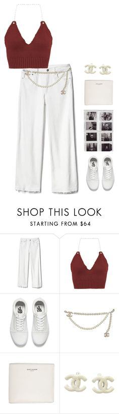 """Untitled #1605"" by streetyouth ❤ liked on Polyvore featuring Gap, Vans, Chanel and Yves Saint Laurent"