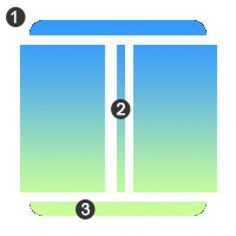 You can see the first slice will create the top two rounded corners of the box, the second slice will create the body of the gradient box and the third slice will create the bottom two corners. We can also use CSS sprites. We can merge top and bottom slices and can create a single CSS sprite image. Using the CSS sprites we can reduce the number of images we are going to use in the HTML code. In this way we can implement the gradient box using only two slices.