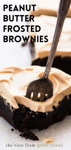 Brownie Desserts, Brownie Frosting, Mini Desserts, Brownie Recipes, Chocolate Recipes, Easy Desserts, Delicious Desserts, Dessert Recipes, Homemade Chocolate