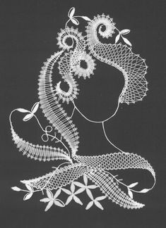 Hlava - Crochet Diagram, Crochet Motif, Irish Crochet, Hairpin Lace, Bobbin Lace Patterns, Machine Embroidery Patterns, Romanian Lace, Bobbin Lacemaking, Cutwork Embroidery