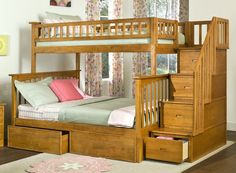 Bunk Bed with storage and stairs for easy access!