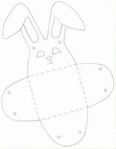 Manualidades infantiles de pascua :lodijoella  te ofrezco ,son lindas cajitas en forma de conejos de pascua que podrán servir para guardar los huevos