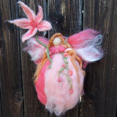 Ethereal Garden Fairy  Needle felted fairy angel elfe by Nushkie