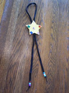 Kids Bolo Tie Craft - perfect for your Bright Tot to use to dress up like a Cowboy or Cowgirl! Cowboy Party, Cowboy Theme, Western Theme, Cowboy And Cowgirl, Cowboy Games, Cowboy Birthday, Cowboy Boots, Bible School Crafts, Fathers Day Crafts
