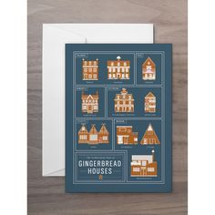 The Architectural Styles of Gingerbread Houses Greeting Card