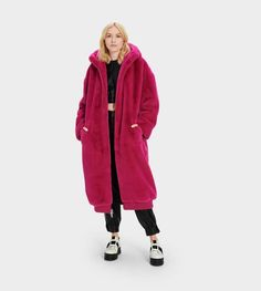 UGG® Women's Collection: Women's Shoes, Apparel & Accesories | UGG® Official Oversize Mantel, Oversized Coat, Shearling Coat, Fur Coat, Winter Is Comming, Faux Fur Hooded Coat, Slipper Boots, Polyester Satin, Winter Jackets