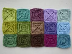 Moorland colour palette inspired by the summer hills of Yorkshire. The idea to make a blanket using these colours.