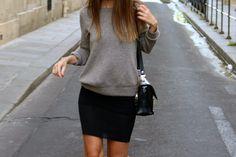 Sweatshirt and skirt