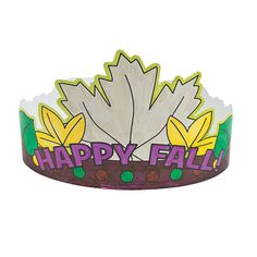 Color Your Own Fall Crowns - OrientalTrading.com