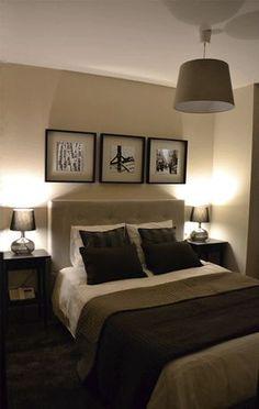 Ideas de #Dormitorio, estilo #Contemporaneo color #Beige, #Beige, #Marron, #Negro, diseñado por Lucía del Barrio Pérez del Molino #CajonDeIdeas