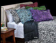 Zebra Print,Pink,Black,Purple,Aqua,Lime green,Girls Funky Bedrooms,decor,ideas,