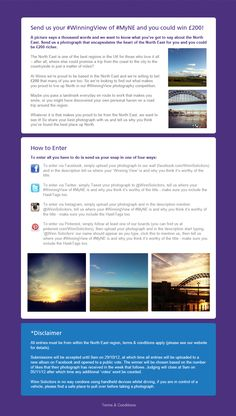 Have you got a photograph of a #WinningView from the north East region? Enter our competition and you could win £200!