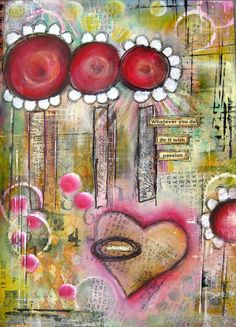 art journal page Sanda Reynolds