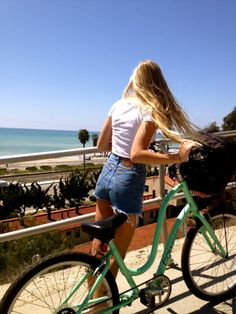 her shorts, her bike, her hair. oh my god stop.