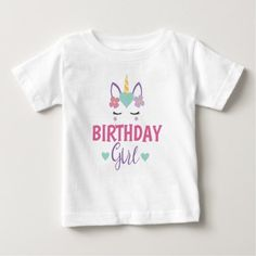 Shop for the best Unicorn baby t-shirts right here on Zazzle. Upgrade your child's wardrobe with our stylish baby shirts. Unicorn Birthday Parties, Baby Birthday, Unicorn Graphic, Baby Girl Hairstyles, Stylish Baby, Cute Unicorn, Cute Girl Outfits, Baby Shirts, Baby Girl Gifts