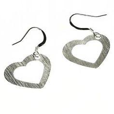 Bijoux c?ur en Argent fin - Boucles d'oreilles romantiques: ShalinCraft: Amazon.fr: Bijoux