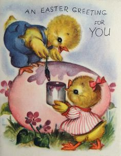 vintage Marjorie Cooper Easter card