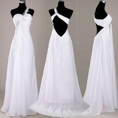 Long Maxi Bridal Bridesmaid Chiffon Evening Party Cocktail Ballgown Prom Dresses | eBay