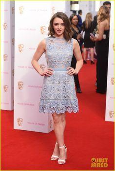 Dianna Agron & Maisie Williams Doll Up for BAFTA TV Awards