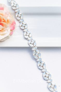 Opal bridal belt with clasp, Opal wedding belt, thin bridal belt, bridesmaids Belt with clasp, crystal belt, bridal sash, thin wedding belt, bridal belt, opal sash, white opal belt, silver bridal belt, Rose Gold Bridal Belt, Gold Bridal Belt, thin bridal sash, rhinestone belt, rhinestone sash,