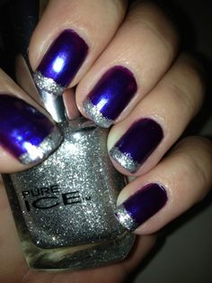 Beautiful Spring Nails With Silver Design - Fashion Diva Design