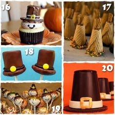 Pilgrim and Indian Thanksgiving Treats