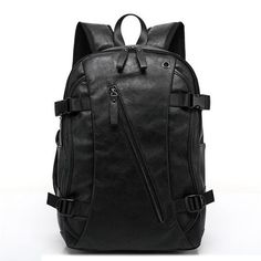 2016 New Arrival Mix Oxhide Leather Backpack Mix Cow Leather Men's Casual Backpack & Travel Bags College Style Bag Mochila Zip Elite Backpack, Backpack Travel Bag, Backpack For Teens, Travel Bags, Fashion Backpack, Tactical Backpack, Leather Backpack For Men, Black Backpack, Leather Men