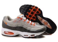 new concept 3b882 88839 com Nike Air Max 95 Men s Running Shoe Grey Orange White Sale