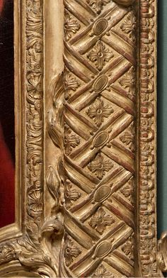 Régence frame (detail), designed by Gilles-Marie Oppenord, possibly carved by Michel Lange, 1723, carved and gilded oak. The J. Paul Getty Museum