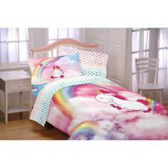 Mainstays Kids Rainbow Unicorn Bed In A Bag Complete