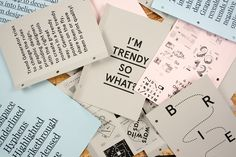 "thedsgnblog:  I'm Trendy So What? Publication by Harrison Park""'I'm Trendy So What' is a publication and social experiment that acts as a practical synthesis to a large body of research and critical writing conducted into the subject of trends and their subsequent impact on professionalism within the graphic design industry. Whilst the main body of research was a critical evaluation of trends, the publication is an introduction to the platforms Trend List and Trend Generator from the point…"