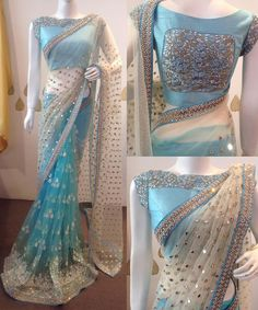 Want to know about the best Latest Elegant Designer Indian Sari and items such as Classic Saree also Bollywood saree in which case CLICK Visit link above for more details Trendy Sarees, Stylish Sarees, Fancy Sarees, Party Wear Sarees, Blue Saree, Red Lehenga, Saree Blouse Patterns, Saree Blouse Designs, Net Saree Designs