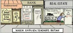 When English teachers retire