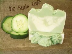 Cucumber Melon Smoothie Soap cold process swirl by TheSudsCafe, $3.99